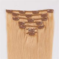 Double weft clip in human hair extensions thick LJ023