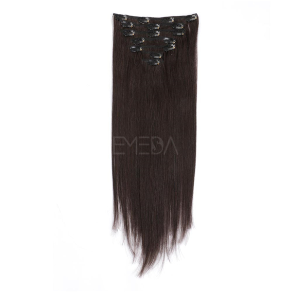 Remy human hair clip in extensions LJ005