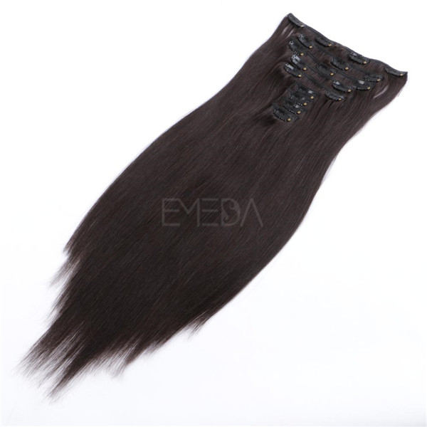Long to Short hair clip in extensions LJ014